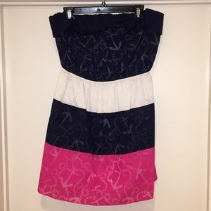 Lilly Pulitzer strapless nautical dress size xl